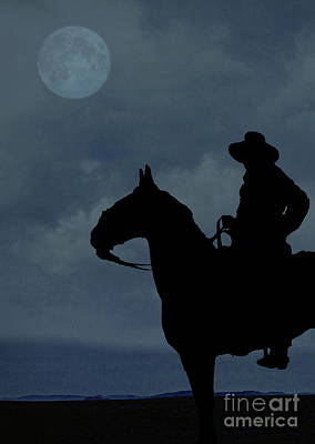 Cowboy On The Range Poster by Edward Fielding