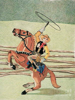 Cowboy Windup Poster by Glenda Zuckerman