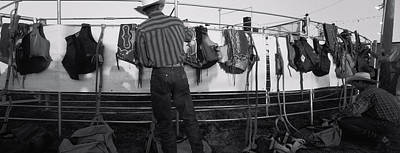 Cowboy With Tacks At Rodeo, Pecos Poster by Panoramic Images