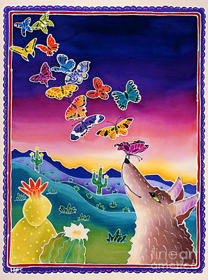 Coyote And The Laughing Butterflies Poster by Harriet Peck Taylor