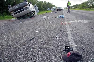 Crashed Van Poster by Jim West