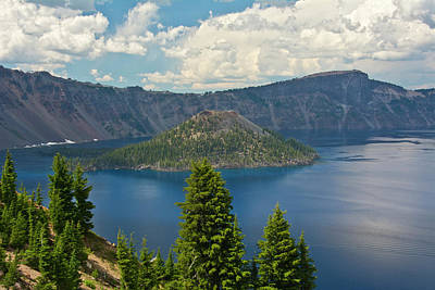 Crater Lake And Wizard Island, Crater Poster by Michel Hersen