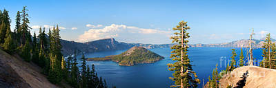 Crater Lake Panorama Poster by Inge Johnsson