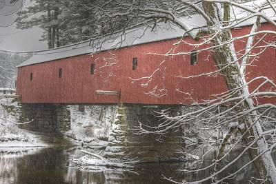 Cresson Bridge  Nh Poster by Gail Maloney