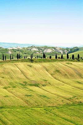 Crete Senesi Area, Near Asciano, Siena Poster by Nico Tondini