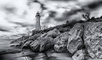 Crisp Point Lighthouse Poster by Todd Bielby