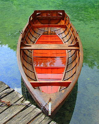 Croatian Rowboat Poster by Ramona Johnston