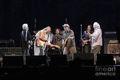 Crosby Stills Nash And Young Poster by Front Row  Photographs