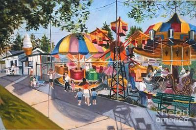 Crossbay Amusement Park Poster by Madeline  Lovallo