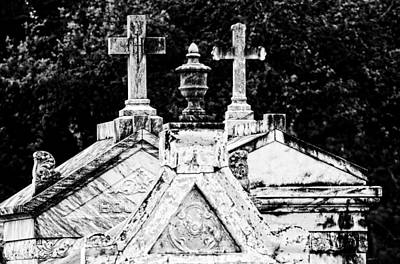 Crosses Of Metairie Cemetery Poster by Andy Crawford
