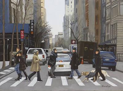 Crosswalk Poster by Linda Tenukas