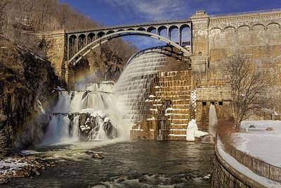 Croton Dam And Rainbow Poster by Susan Candelario