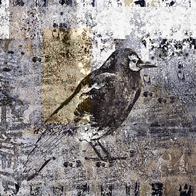 Crow Number 84 Poster by Carol Leigh