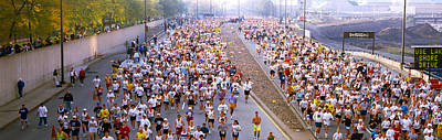 Crowd Running In A Marathon, Chicago Poster by Panoramic Images