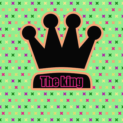 Crown In Pop Art Poster by Toppart Sweden