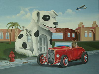Cruisin' At The Pup Cafe Poster by Stuart Swartz
