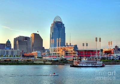 Cruising By Cincinnati Poster by Mel Steinhauer