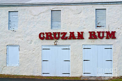 Cruzan Rum Building Poster by Iris Richardson