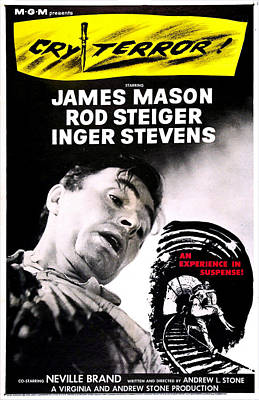 Cry Terror, Us Poster, James Mason, 1958 Poster by Everett