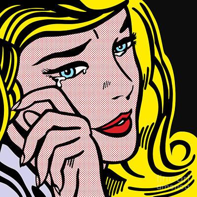Crying-girl No.1 Poster by Bobbi Freelance
