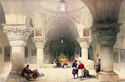 Crypt Of The Holy Sepulchre Poster by David Roberts
