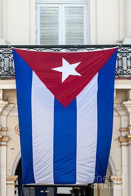 Cuban Flag Key West  Poster by Ian Monk
