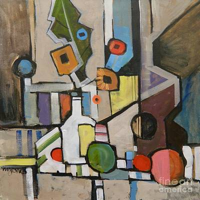 Cubist Still Life With A Guitar Poster by Micheal Jones
