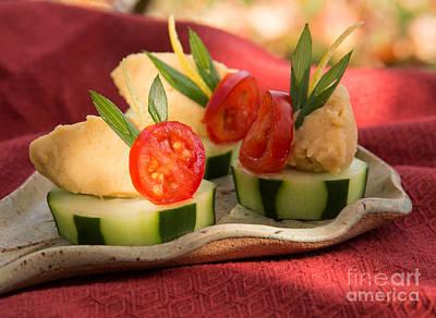 Cucumber With Hummus Poster by Iris Richardson
