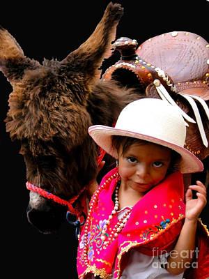 Cuenca Kids 375 Poster by Al Bourassa