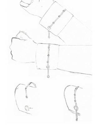 Cufflink Bracelets Poster by Giuliano Capogrossi Colognesi