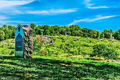 Culp's Hill And Cemetary Ridge Gettysburg Battleground Poster by Bob and Nadine Johnston