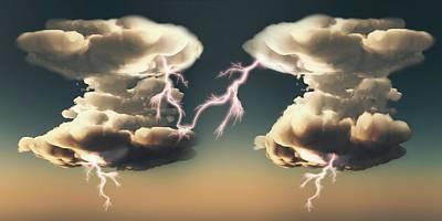Cumulonimbus Storm Clouds Poster by Mikkel Juul Jensen
