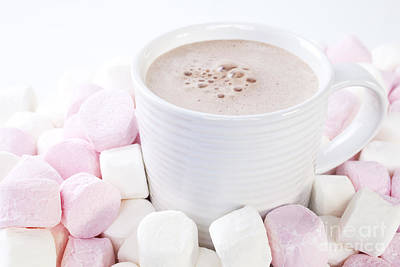 Cup Of Chocolate And Marshmallows Poster by Colin and Linda McKie