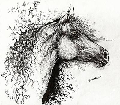 Curls And Swirls Poster by Angel  Tarantella