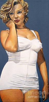 Curvy Beauties - Marilyn Monroe Poster by Malinda  Prudhomme