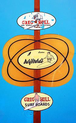 Custom Greg Noll Surfboards Poster by Ron Regalado