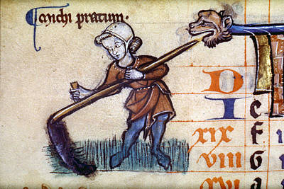 Cutting Hay With A Scythe Poster by Granger