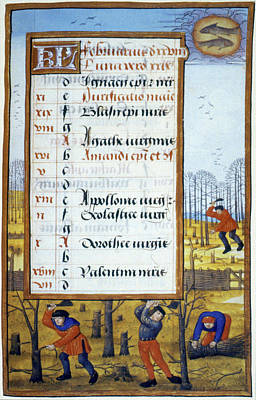 Cutting Trees, C1500 Poster by Granger