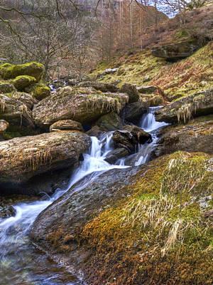 Cwm Rhaeadr Waterfall Poster by Hazel Powell