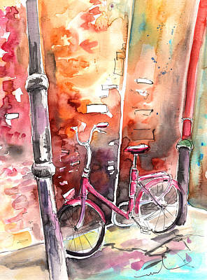 Cycling In Italy 02 Poster by Miki De Goodaboom