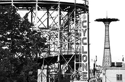 Cyclone At Coney Island Poster by John Rizzuto