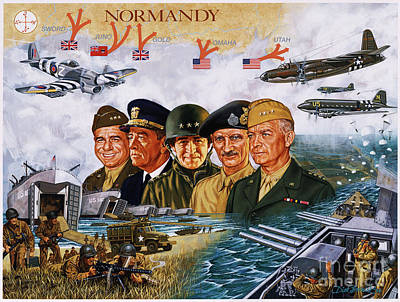 D Day 6th Of June Poster by Dick Bobnick