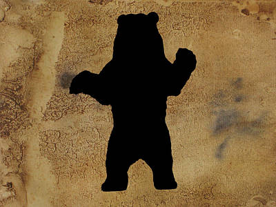 Da Bear Poster by Celestial Images