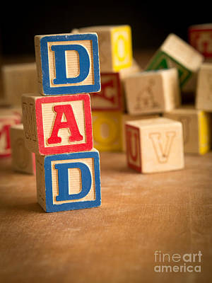 Dad - Alphabet Blocks Fathers Day Poster by Edward Fielding