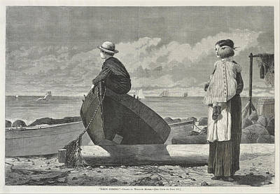 Dad S Coming Poster by Winslow Homer