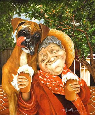 Daisy's Mocha Latte Poster by Shelly Wilkerson