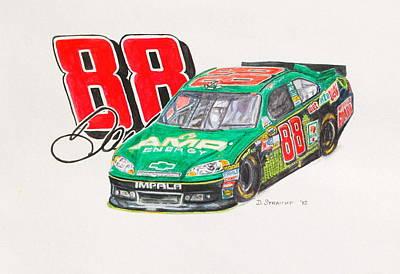Dale Earnhardt Jr. #88 Amp Poster by David Straitiff