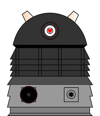 Dalek I Love You Poster by Richard Reeve