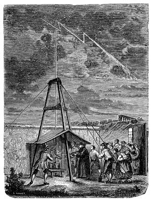 Dalibard's Lightning Experiment Poster by Science Photo Library
