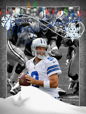 Dallas Cowboys Christmas Card Poster by Joe Hamilton